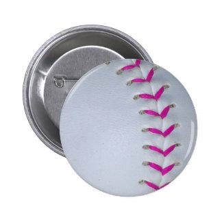 El rosa cose béisbol/softball pin