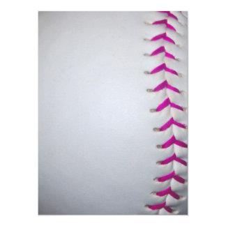 """El rosa cose softball invitación 5.5"""" x 7.5"""""""