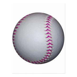 El rosa cose softball postal