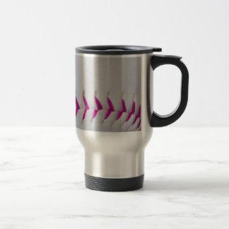 El rosa cose softball taza de café