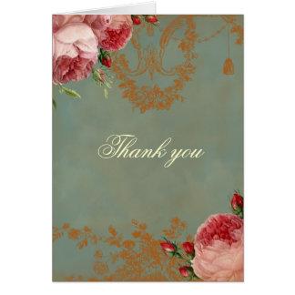 El rosa de Blenheim le agradece Tarjeta De Felicitación