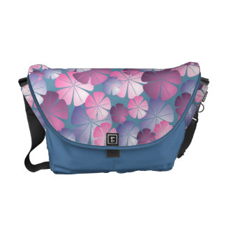 El rosa de color de malva púrpura florece la bolsa bolsas de mensajería