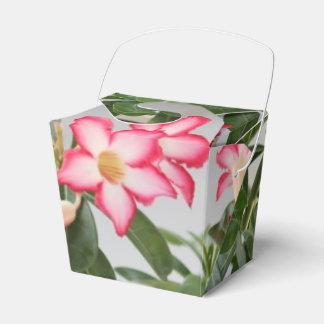 El rosa de desierto florece la planta cajas para detalles de boda