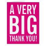 El rosa de gran tamaño muy grande le agradece las tarjeta de felicitación grande