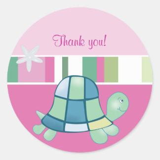 El rosa de la bahía de la tortuga redondo le agrad