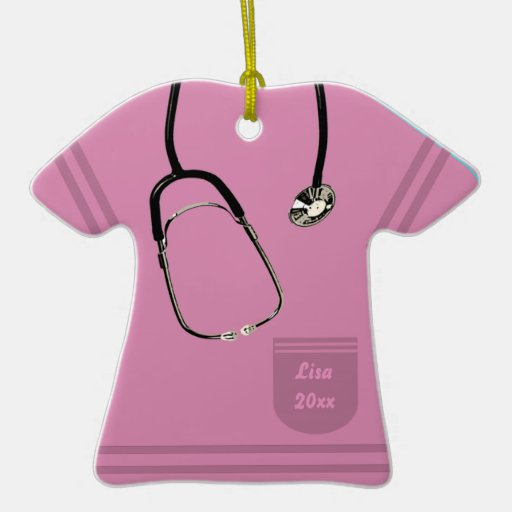 El rosa de la enfermera friega el ornamento adorno