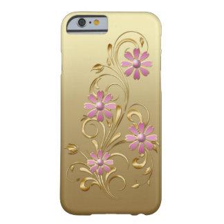 El rosa de la pendiente del oro florece el iPhone Funda De iPhone 6 Barely There
