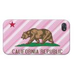 El rosa de la república de California raya la band iPhone 4 Cárcasas