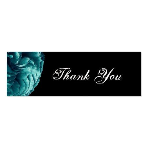 El rosa de la turquesa le agradece etiqueta del tarjetas de visita mini