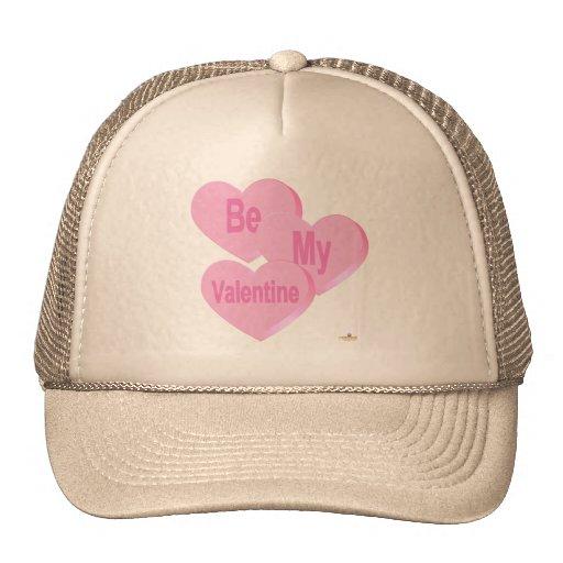 El rosa de los corazones del caramelo sea mi tarje gorras de camionero