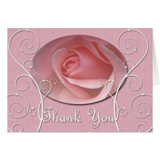 El rosa de los rosas bebés le agradece cardar tarjeta de felicitación