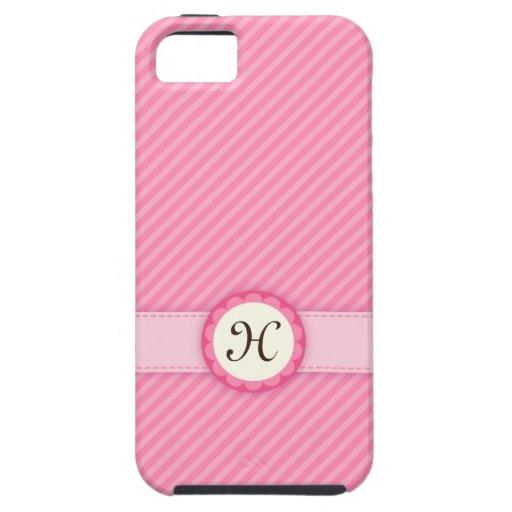 El rosa de moda raya la caja del iPhone 5 del Funda Para iPhone SE/5/5s