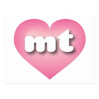 El rosa de Montana mt se descolora corazón Postal