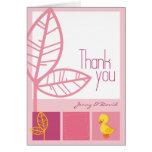 El rosa del anadón le agradece cardar felicitaciones