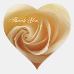 El rosa del boda le agradece los pegatinas pegatina corazón