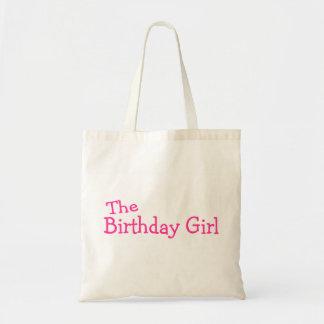 El rosa del chica del cumpleaños bolsa de mano