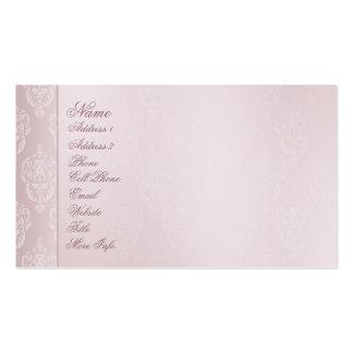 El rosa del damasco se ruboriza tarjeta de visita