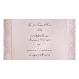 El rosa del damasco se ruboriza plantilla de tarjeta de negocio