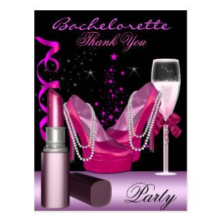 El rosa del lápiz labial del fiesta de Bachelorett Tarjeta Postal