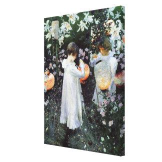 El rosa del lirio del lirio del clavel envolvió la lona envuelta para galerias