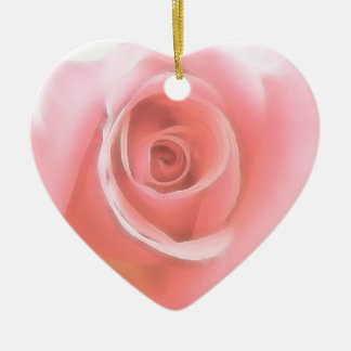 El rosa del recuerdo del boda subió el sistema del ornamentos de navidad