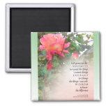 El rosa del rezo de la serenidad subió dos brotes imanes de nevera