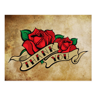 El rosa del tatuaje le agradece postal