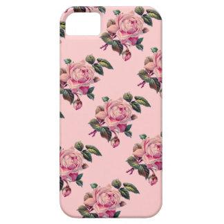 El rosa del vintage del país subió florece el funda para iPhone SE/5/5s