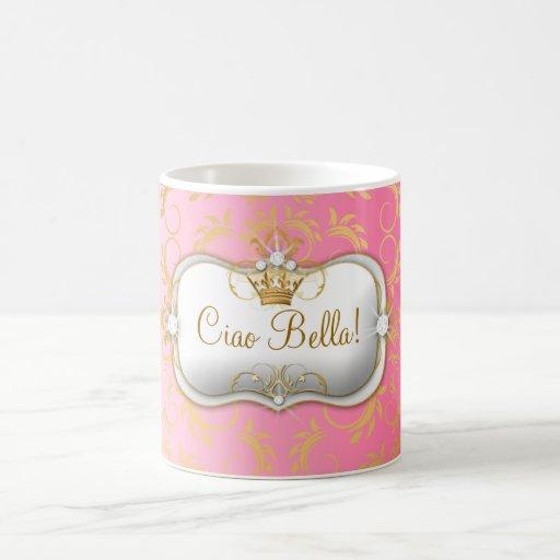 El rosa divino de oro de 311 Ciao Bella se descolo Taza De Café