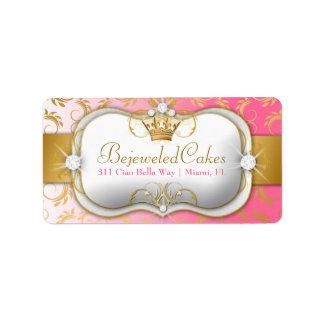 El rosa divino de oro de 311 Ciao Bella se Etiquetas De Dirección