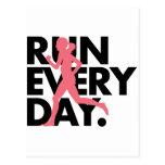 """El rosa/el negro """"funciona con cada día """" tarjetas postales"""