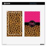 El rosa elegante del estampado leopardo puntea per kindle fire skins