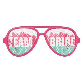 El rosa elegante del oro raya las gafas de sol lentes de fiesta