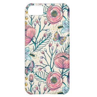 El rosa elegante del vintage subió el caso del funda para iPhone 5C
