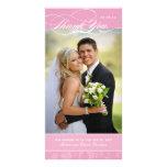 El rosa elegante le agradece la tarjeta de la foto tarjetas fotográficas personalizadas