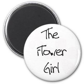 El rosa en colores pastel florece al florista imán redondo 5 cm