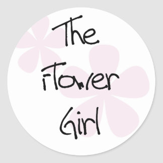 El rosa en colores pastel florece al florista pegatina redonda