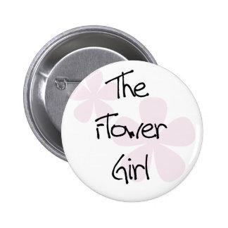 El rosa en colores pastel florece al florista pin redondo de 2 pulgadas