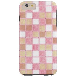 El rosa en colores pastel y el moreno tejaron el funda de iPhone 6 plus tough