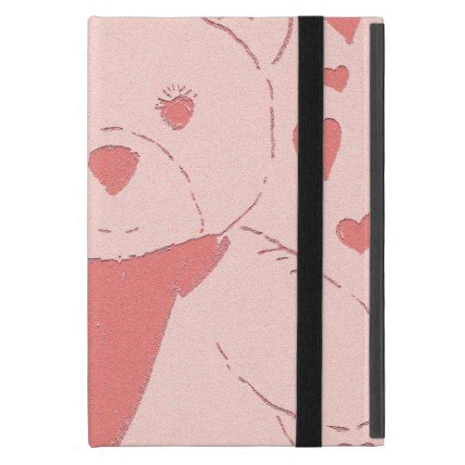 el rosa entonó el oso de peluche iPad mini coberturas
