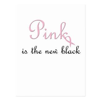 el rosa es el nuevo negro tarjeta postal