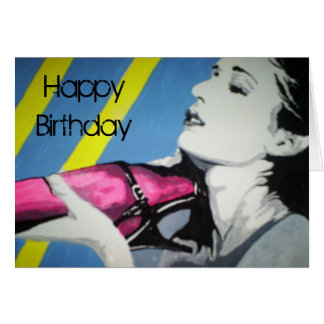 """El """"rosa está para la tarjeta del cumpleaños de lo"""