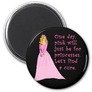 El rosa está para los productos del cáncer de las  imán redondo 5 cm