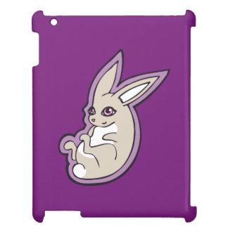 El rosa feliz del conejo de la lavanda observa