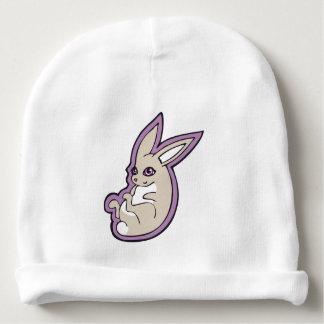 El rosa feliz del conejo de la lavanda observa gorrito para bebe
