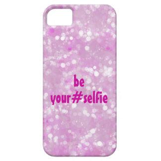 El rosa femenino sea usted mismo cita de Selfie Funda Para iPhone SE/5/5s