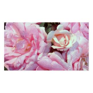 el rosa florece 2 frecuencia intermedia plantillas de tarjetas personales