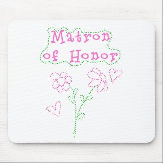 El rosa florece a la matrona del honor tapetes de ratón