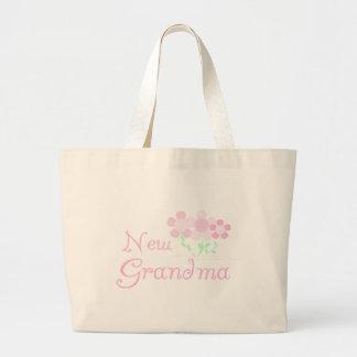 El rosa florece a la nueva abuela bolsa tela grande