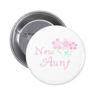 El rosa florece a la nueva tía pins